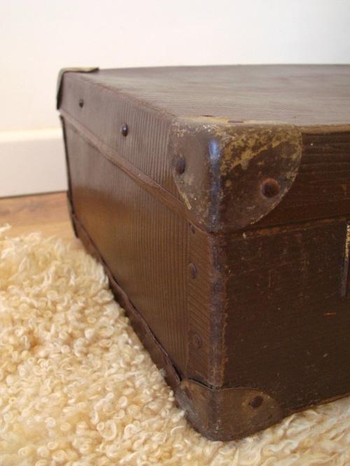 Fotos de detalle de maletas antiguas