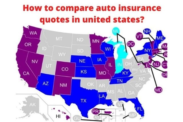How to compare auto insurance quotes in united states?