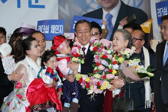 Ban Ki-moon llega a Corea del Sur a través de Aeropuerto de Incheon