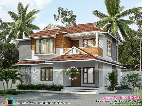 3 bedroom modern house with laterite stone