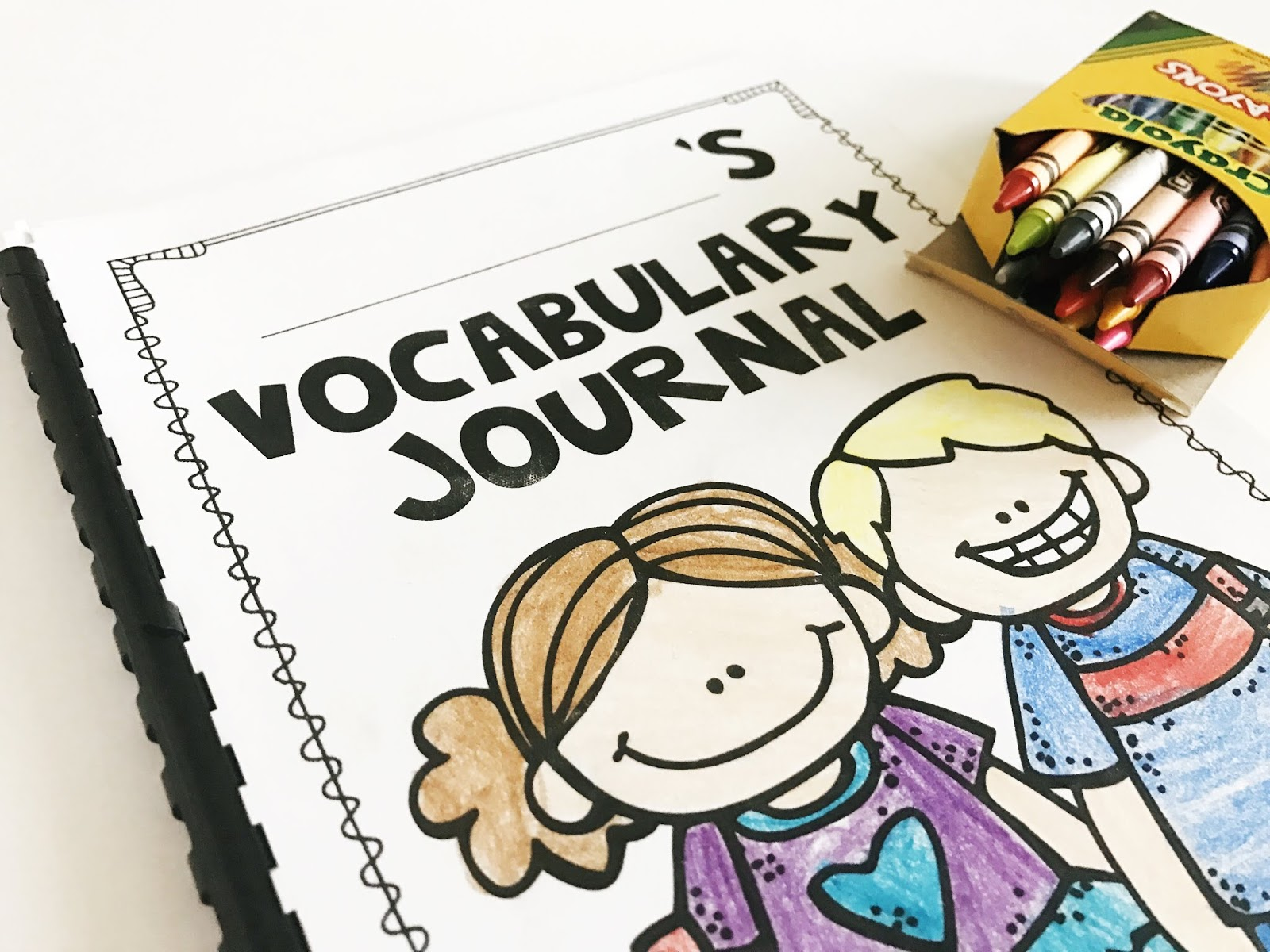 A vocabulary journal resource for third grade teachers