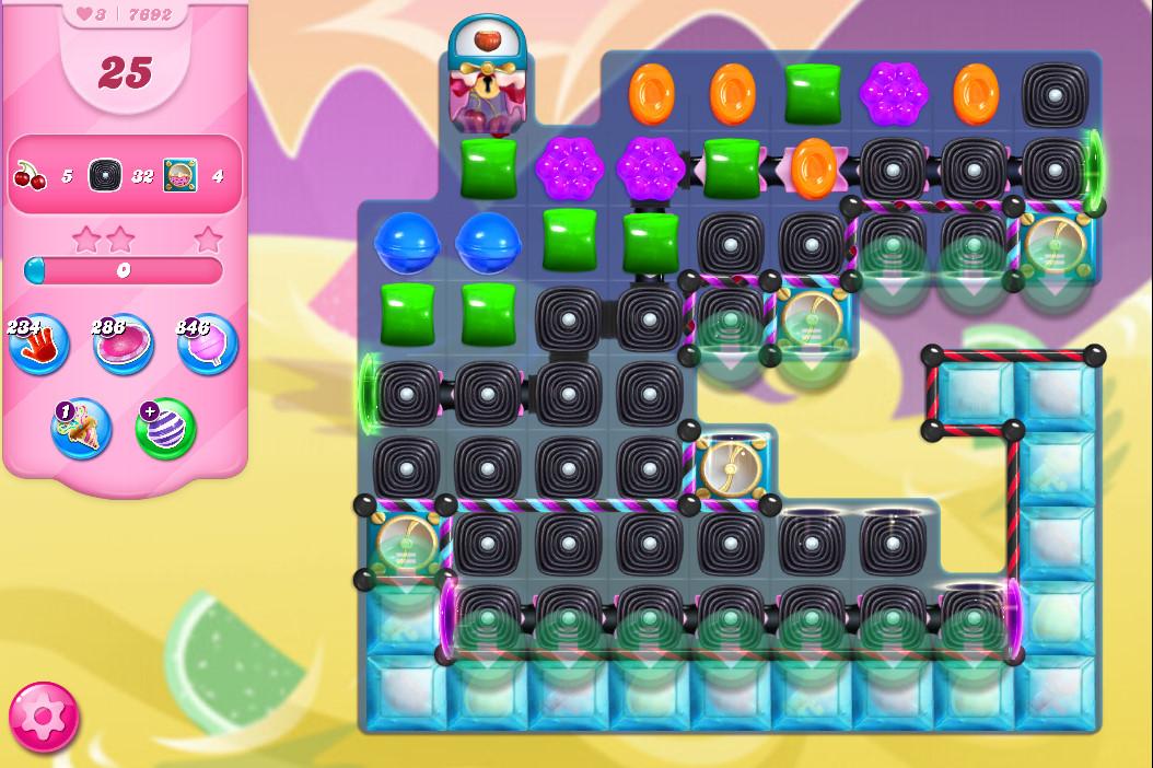 Candy Crush Saga level 7692