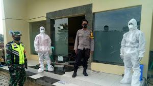 Binmas Polsek Pacet Polresta Bandung Bersama Babinsa, Pengamanan Rapid Test KPPS