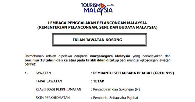 job tourism malaysia