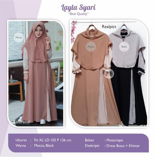 Jual Baju Busana Muslim Dress Layla Syari