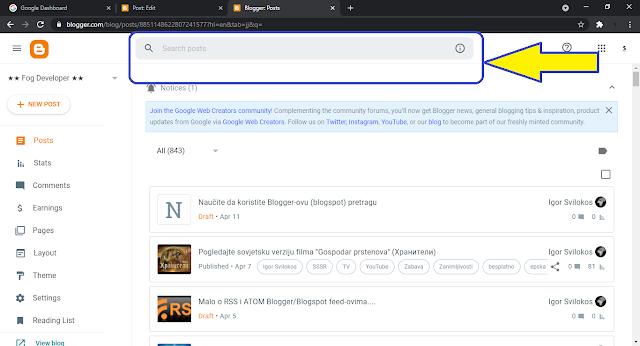 Naučite da koristite Blogger-ovu (blogspot) pretragu