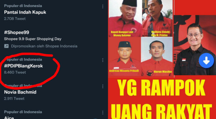 Trending Tagar #PDIPBiangKerok, Netizen: Ngakunya Partai Wong Cilik, Padahal Partai Wong Licik!