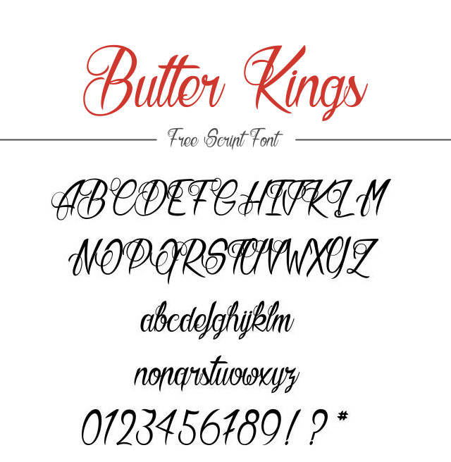 Download Kumpulan 30 Font Script Desainer grafis - Butter Kings Scipt Font