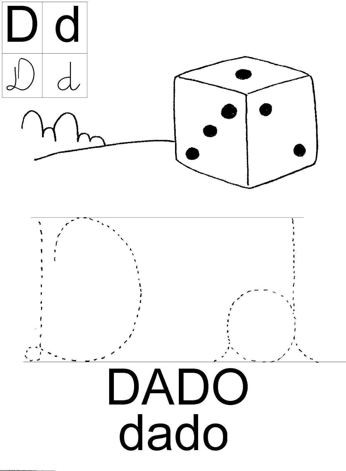 Meu Cantinho Preferido Atividades Com A Letra D