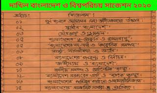 আল ফাতাহ দাখিল বাংলাদেশ ও বিশ্বপরিচয় সাজেশন ২০২০|দাখিল বাংলাদেশ ও বিশ্বপরিচয় সাজেশন ২০২০