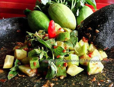 Resep reuceuh bonteng lalapan khas Sunda