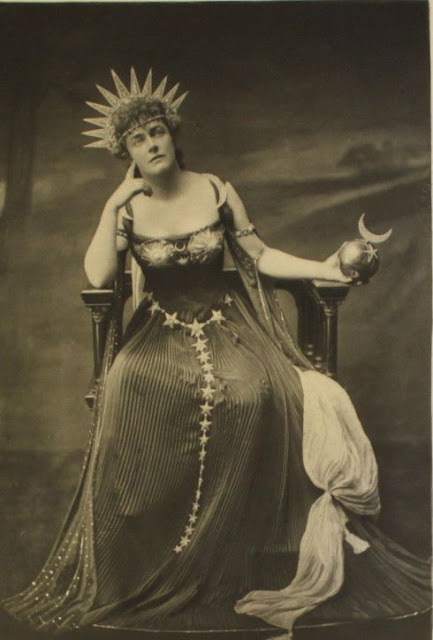 Duchess of Devonshire's Costume Ball 1897 - Lady Gerard, describing herself as the Moon Goddess Astarte. The Christmas Story Explained and other stories of Christmas Creepers. marchmatron.com