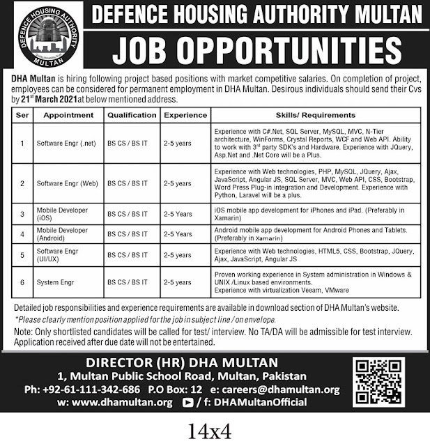 """""""Jobs in DHA Defence Housing Authority Multan"""" Published Today in the Nation Newspaper, for the following latest New """"Jobs in DHA Defence Housing Authority Multan"""" . Applicant can apply online for """"Jobs in DHA Defence Housing Authority Multan""""."""