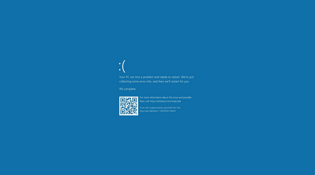 Fixed a problem showing the blue screen in Windows