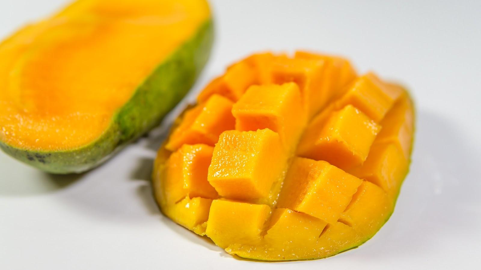Half sliced Mango background