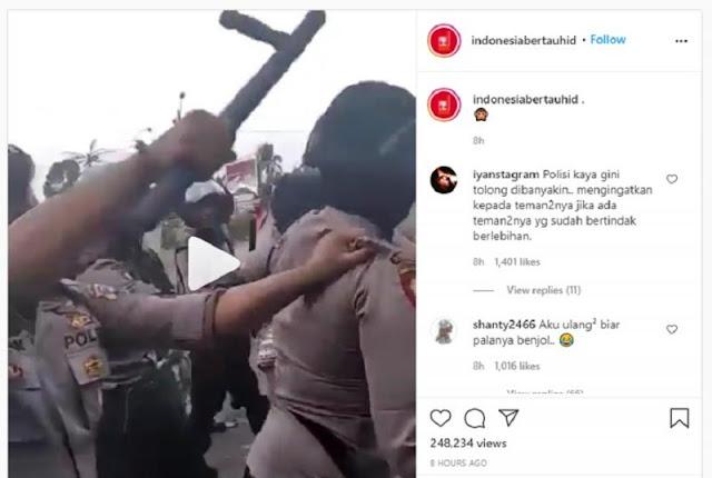 Viral Kepala Polisi Dipukul Atasan Karena Piting Pedemo, Netizen Heboh