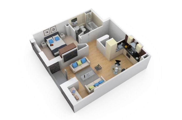 3D Floor Plan  Contemporary 1