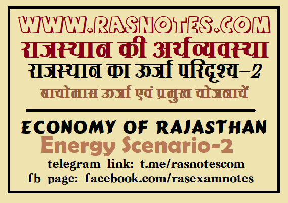 Biomass Energy and Govt. Schemes in Rajasthan