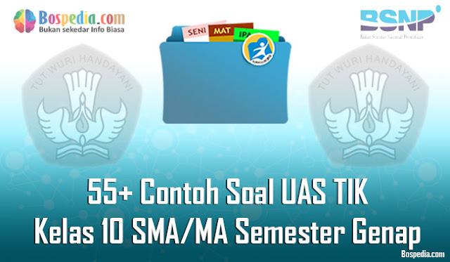 55+ Contoh Soal UAS TIK Kelas 10 SMA/MA Semester Genap Terbaru
