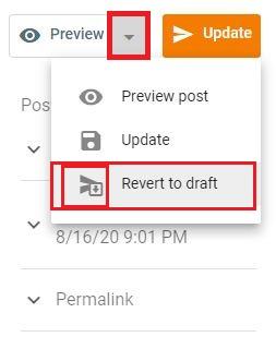 Revert to draft, Post URL, Custom Redirects tips