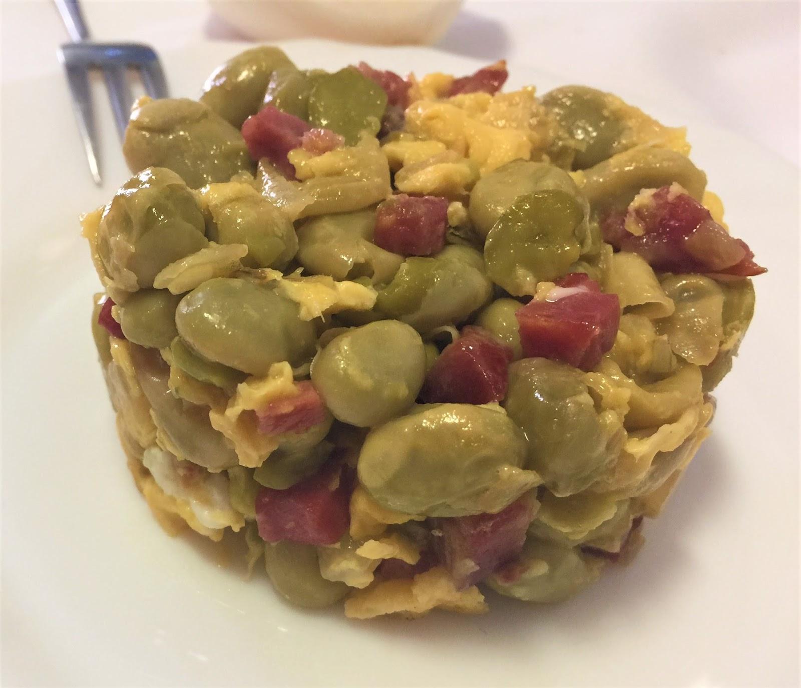 La cocina de merche borjas revuelto de habas frescas con - Habas frescas con jamon ...