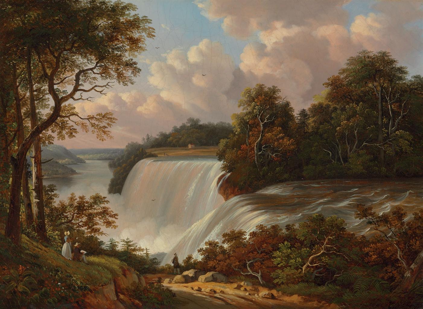 Обои водопад, Пейзаж, картина, Сердце Анд, Фредерик Эдвин Чёрч. Разное foto 17