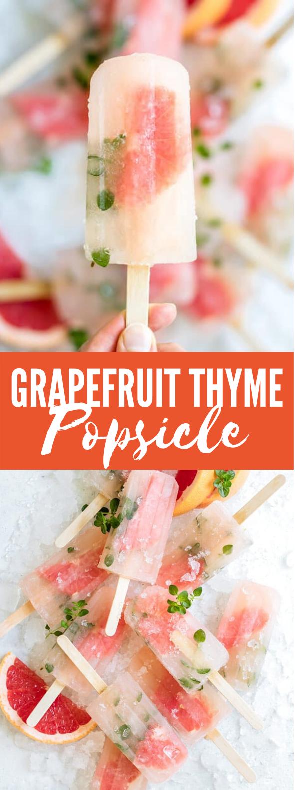 GRAPEFRUIT THYME POPSICLES #desserts #frozenrecipe