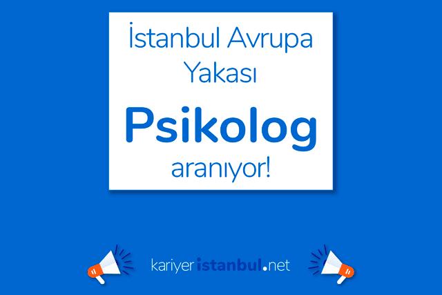 İstanbul Avrupa Yakası'nda danışmanlık hizmetleri firması psikolog alımı yapacak. Detaylar kariyeristanbul.net'te!
