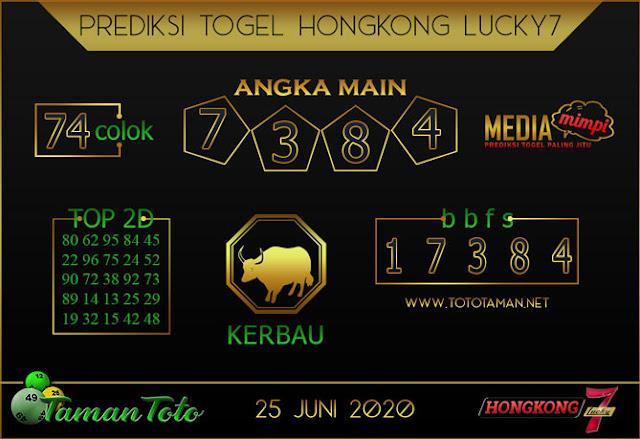 Prediksi Togel HONGKONG LUCKY 7 TAMAN TOTO 25 JUNI 2020