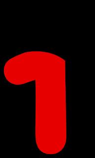 Números del 1 al 5 en Rojo y con Orejas de Mickey.