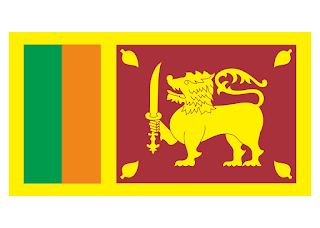 Sri Lanka flag Logo Vector