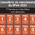PLACA 9: Pagamento da terceira e última parcela do IPVA 2020 vence na segunda-feira (23)