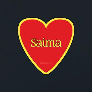 Saima Name on heart