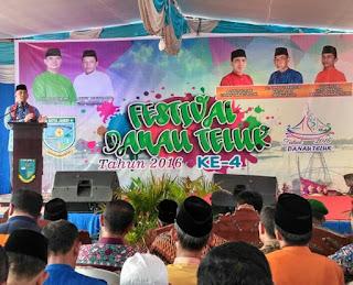 Festival Danau Teluk, pembukaan oleh Wali Kota