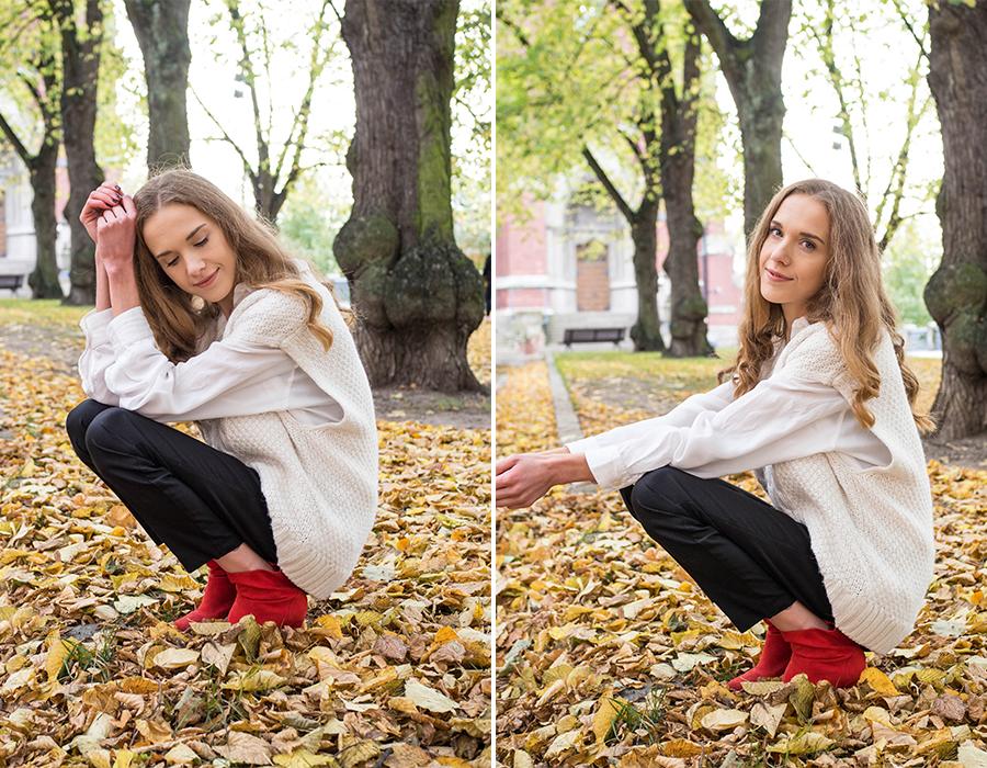 Kuinka pukea neuleliivi - How to style knitted vest
