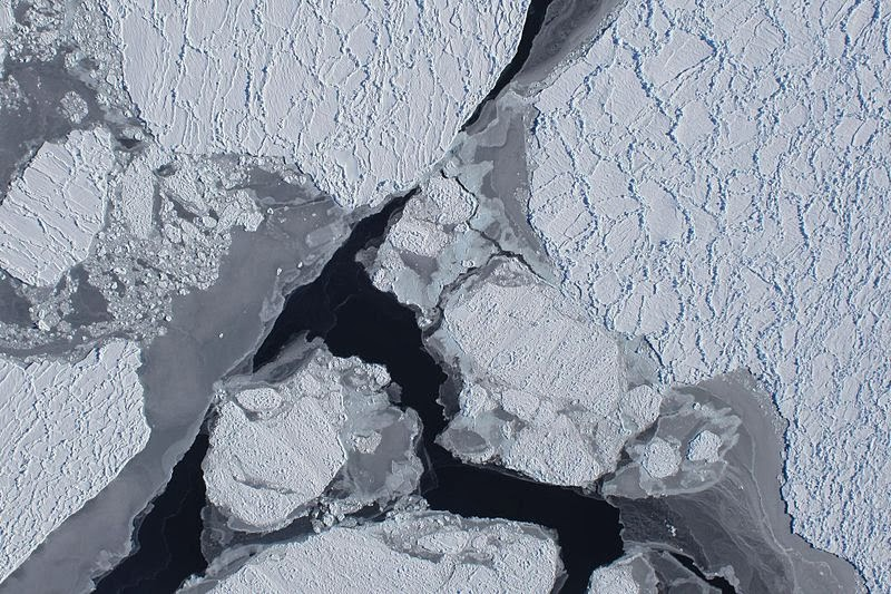 Antarctic sea ice from above