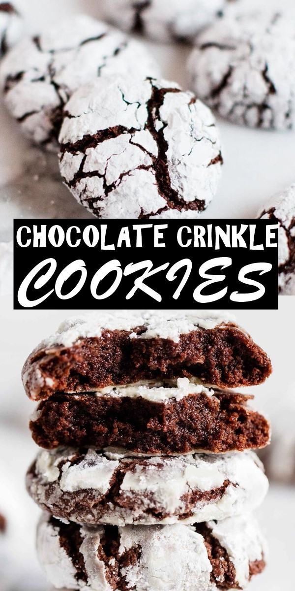 CHOCOLATE CRINKLE COOKIES #cookiesrecipes
