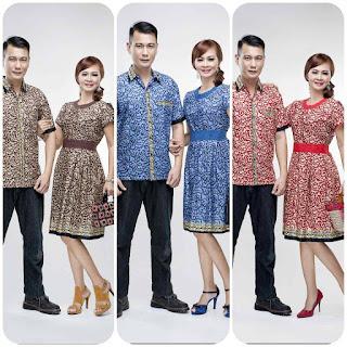 Baju Batik Couple Motif Masa kini