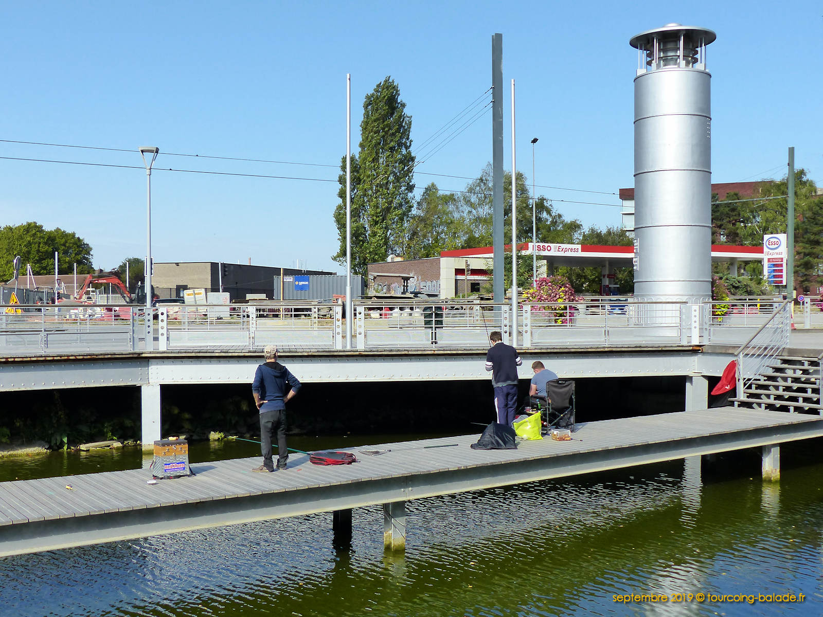 Pêcheurs Pont Hydraulique, Tourcoing 2019