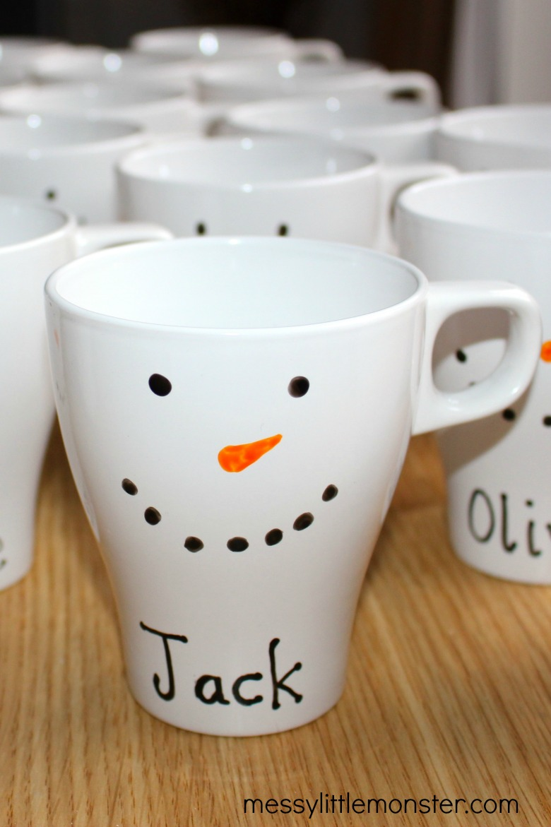 How to make your own mug - diy snowman mug
