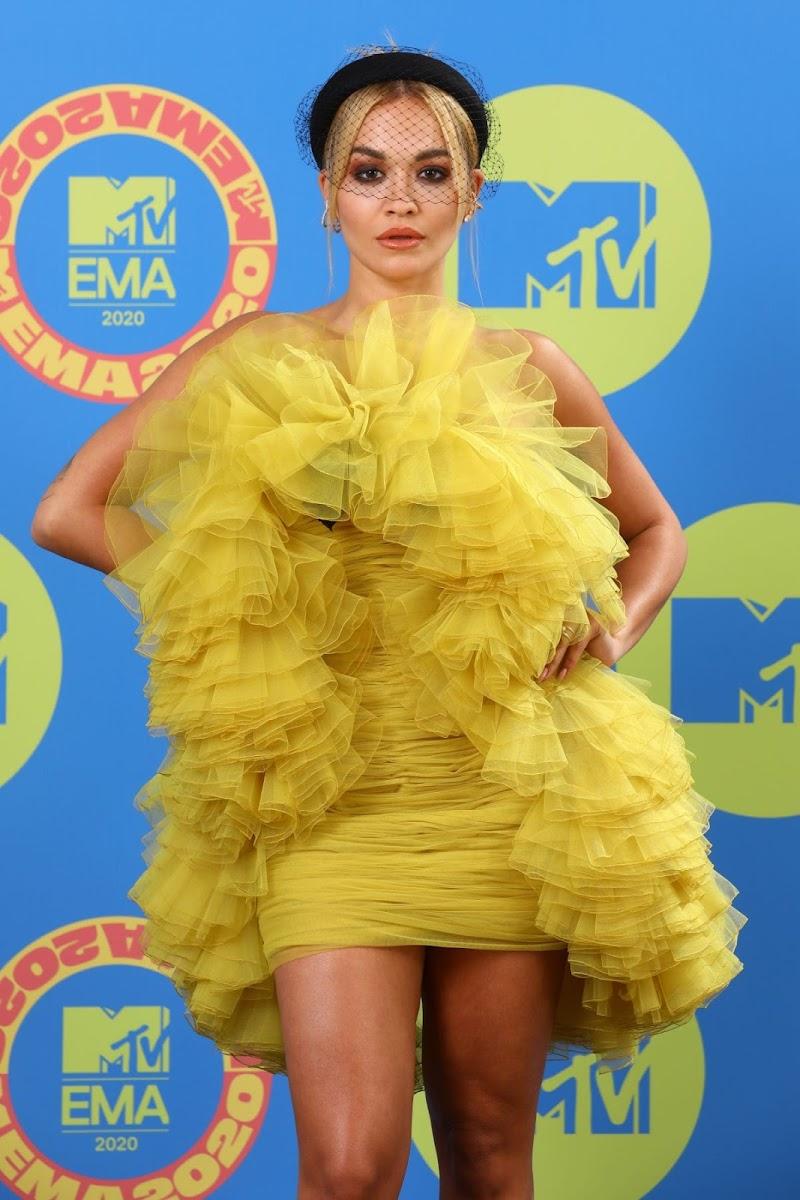 Rita Ora Clicks at MTV European Music Awards 2020 in London  8 Nov-2020