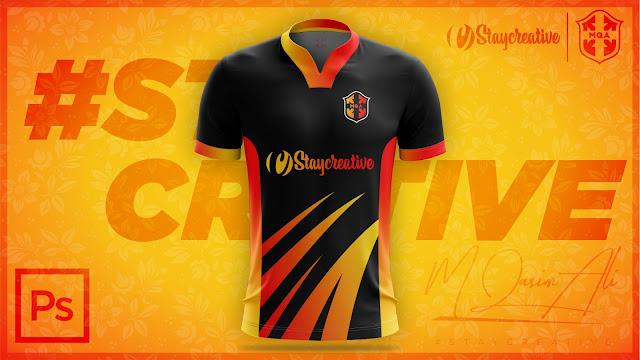 M Qasim Ali #STAYCREATIVE Jersey Design in Photoshop cc 2019