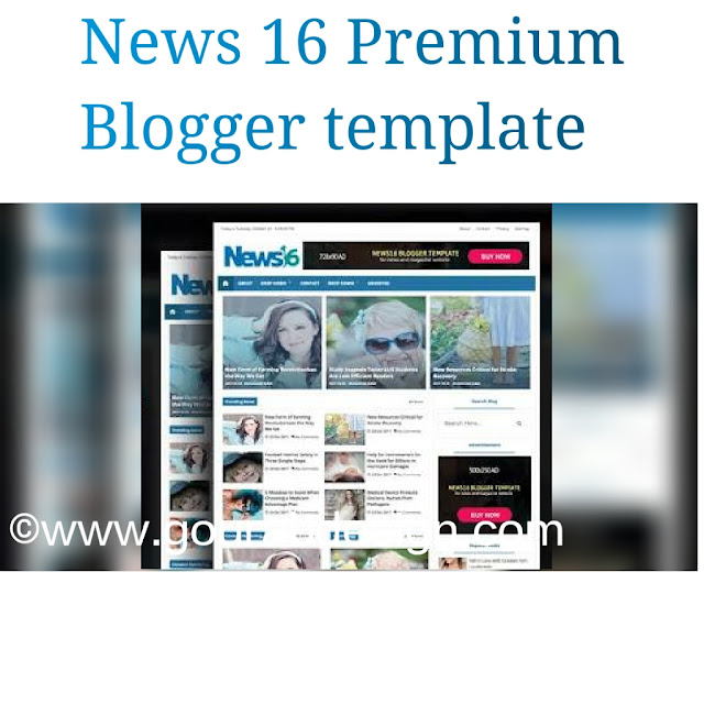 News 16 responsive magazine blogger template