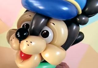 Paw Patrol Ballonfigur aus Modellierballons getwistet.