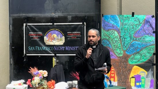 Christópher Abreu Rosario Delivers First Public Sermon, San Francisco Night Ministry