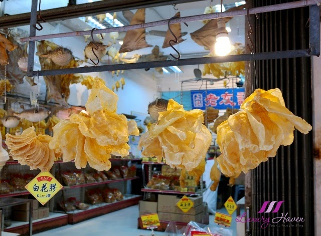 hong kong sight seeing tai o market fish maw