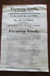 Scan of North-Mims 1815 Farming Stock Auction Poster