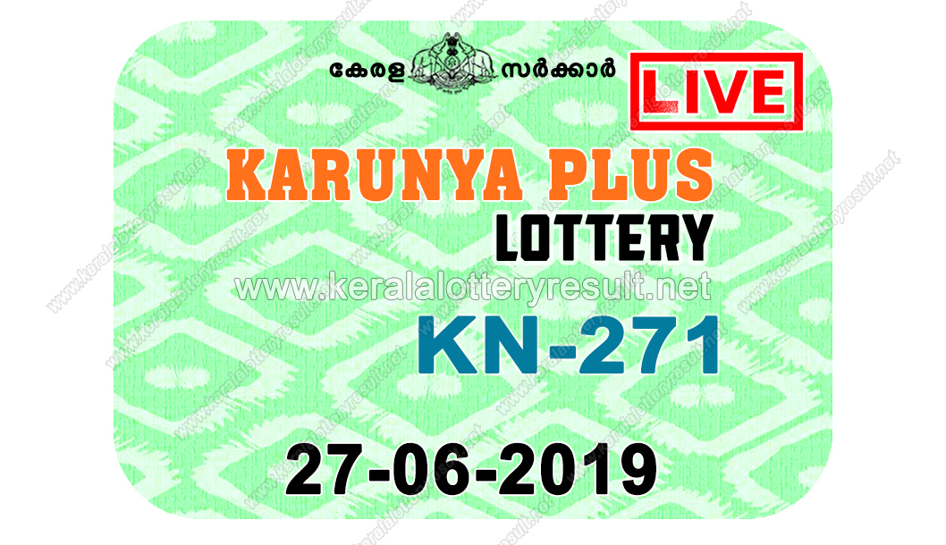 Kerala Lottery Result 27/06/2019 ; Karunya Plus Lottery