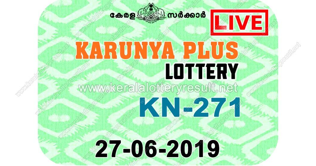 Kerala Lottery Result 27/06/2019 ; Karunya Plus Lottery