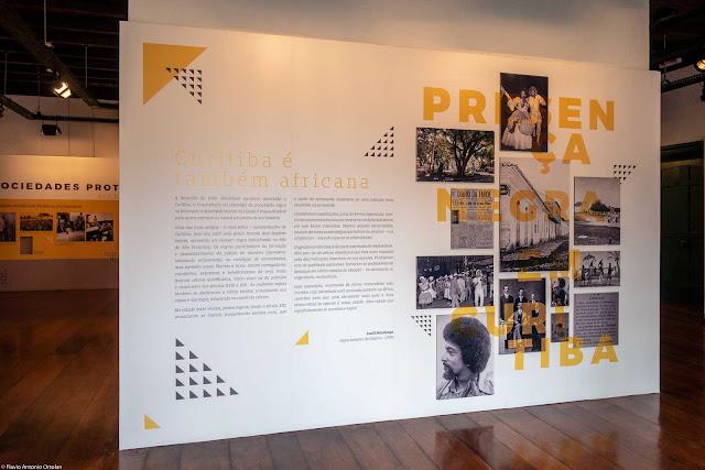 """exposição """"Presença Negra em Curitiba"""" na Casa Romário Martins"""